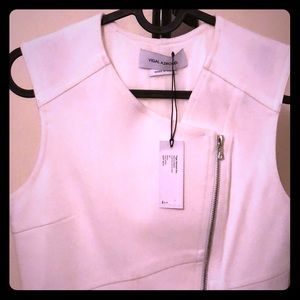 Yigal Azrouel White Zipper Dress